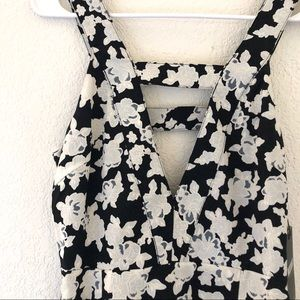 NWT Missguided Black Floral Cut Out Dress